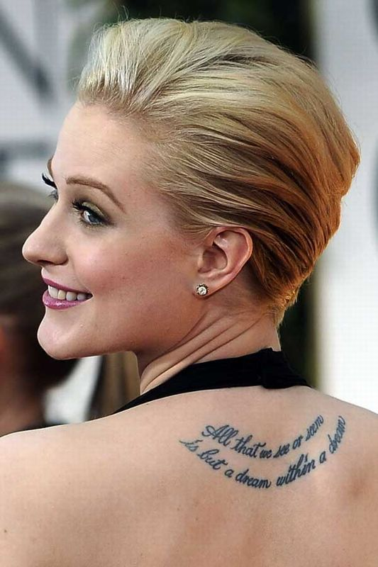 Female Stars With Ink Who Prove Tattoos Can Be Hella Sexy ... Evan Rachel Wood Imdb