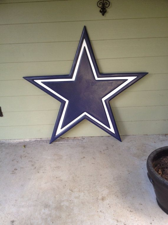 Dallas Cowboys 3D Logo carving  by NEVERMOREcreation on Etsy, $199.00