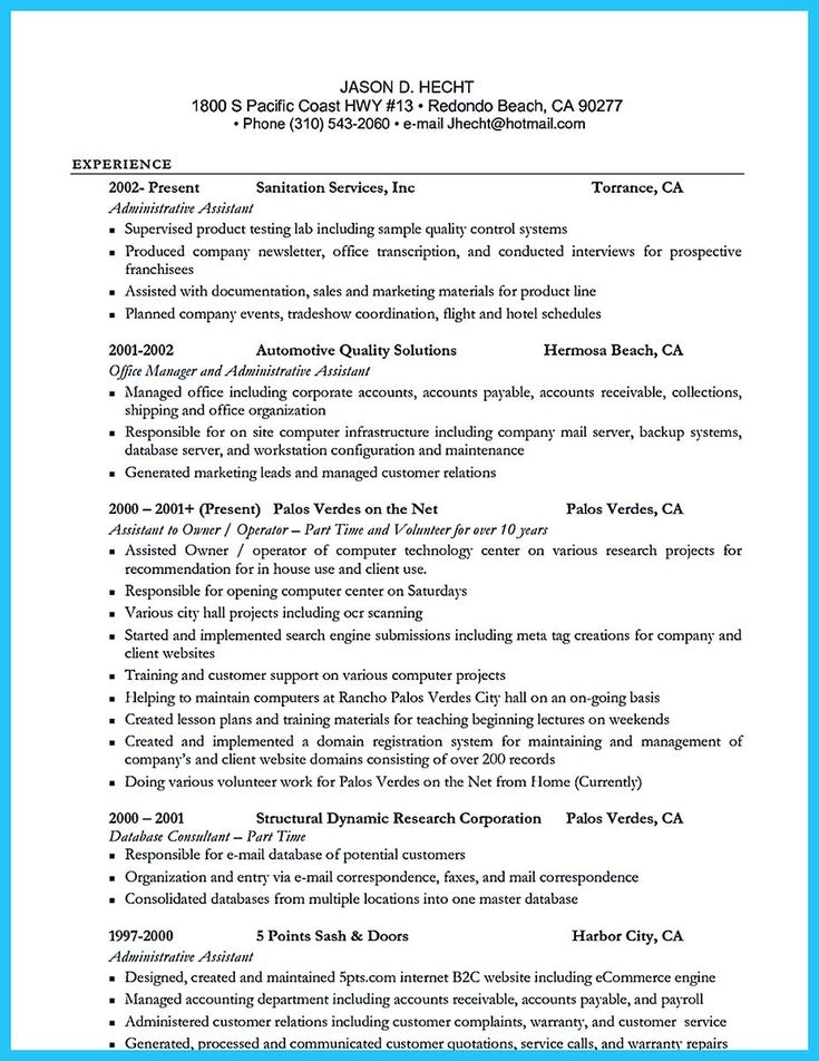 15 best resume images on Pinterest Resume skills, Resume - server example resume