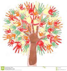 Resultado de imagen de dibujos hechos con huellas de manos de niños