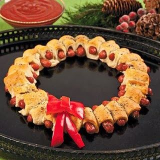 Pigs in a Blanket Christmas Wreath