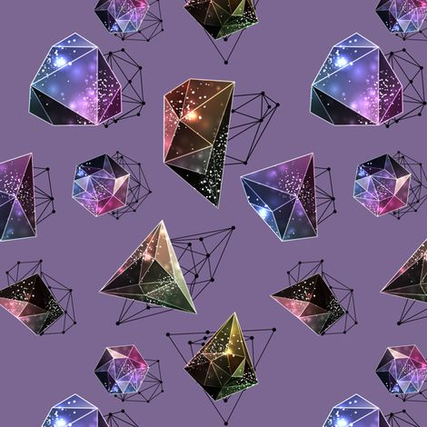 Space Diamonds fabric by melinda_wolf_designs on Spoonflower - custom fabric