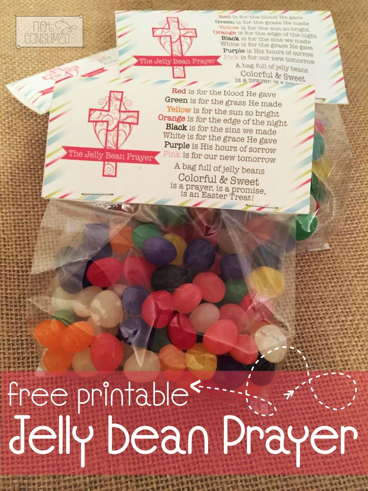 These Jelly Bean Prayer Printables are an Easter favorite. Perfect for Sunday School treats, neighbors, class parties, and Easter baskets.