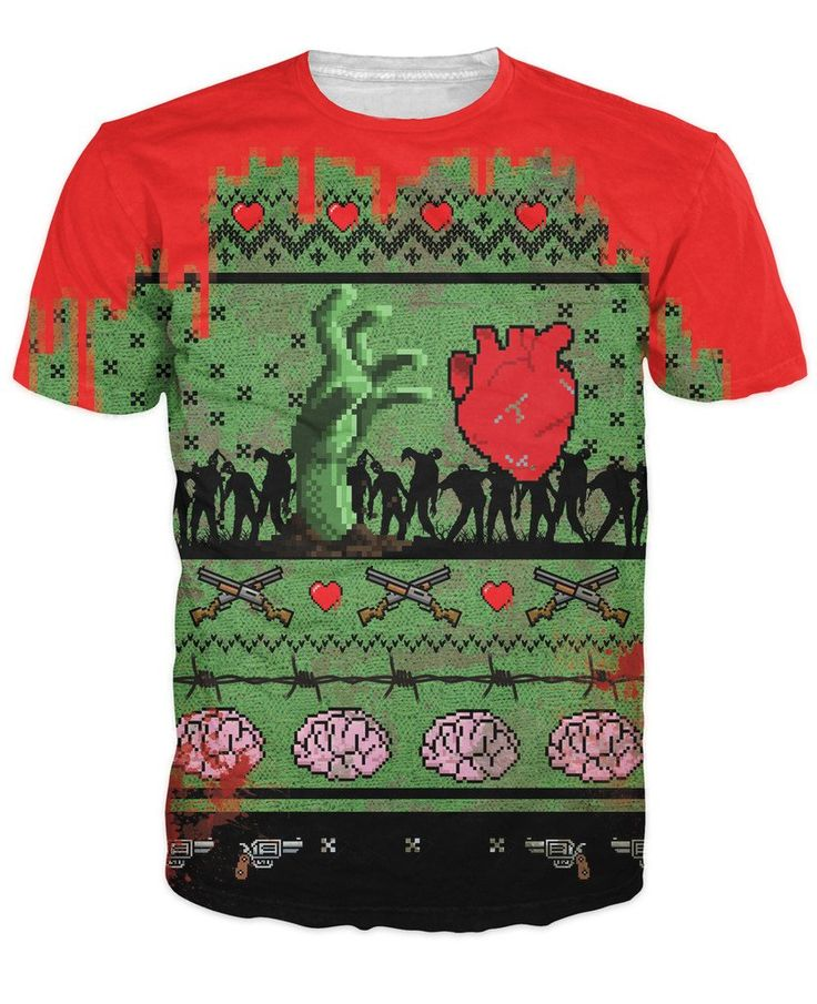 Women Men 3d the Walking Dead Christmas T-Shirt awesome zombie T Shirt sportwear Tops Funny Hipster Outfits Plus Size