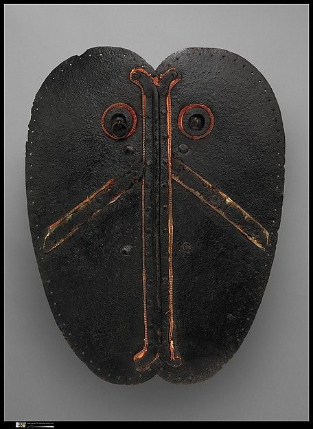 Shield (Adarga) Date: ca. 1500 Culture: Spanish Medium: Iron, textile Dimensions: L. 20 1/2 in. (50.07 cm); W. 16 in. (40.64 cm); Wt. 6 lb. 1 oz. (2749.9 g)