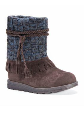 Muk Luks Women's Rihanna Boot - Dk Brown/Blue - 10M