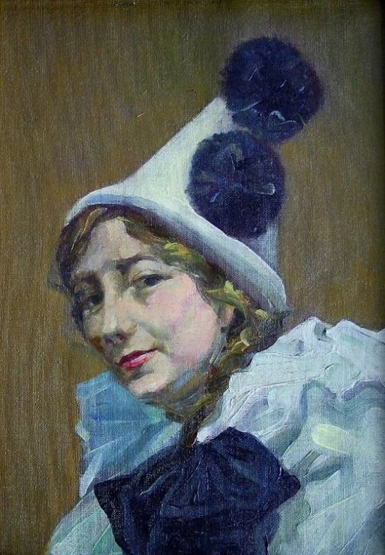 The Clown by Dame Laura Knight (English 1877-1970)