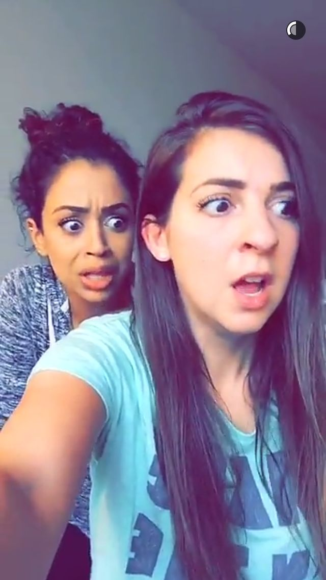 Liza Koshy and Gabbie Hanna (the gabbie show)