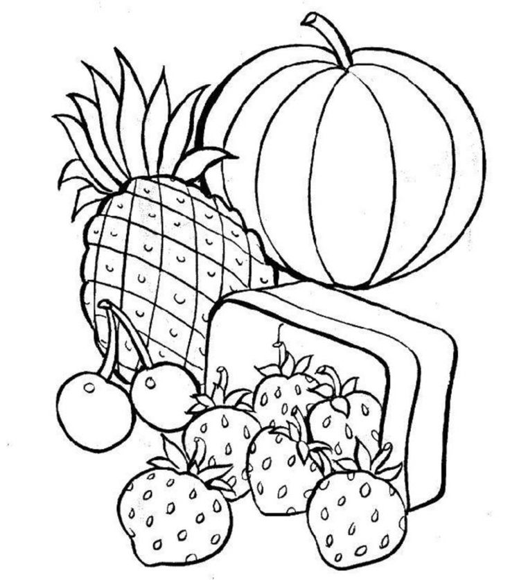 colouring sheets healthy food coloring pages