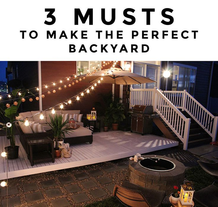 3 musts to make the perfect backyard for entertaining - Texture Patio Designs Home Depot