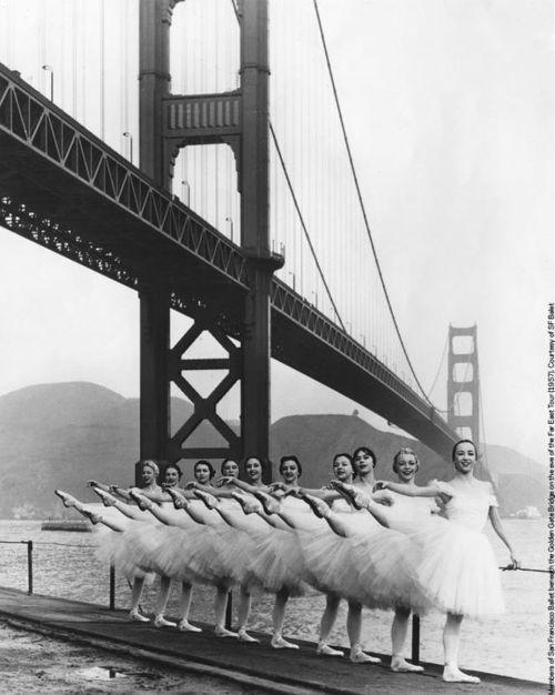 Golden Gate Bridge ballerinas 1960