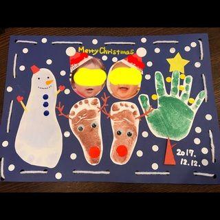 【アプリ投稿】【手形アート☆クリスマス】 | みんなのタネ | あそびのタネNo.1[ほいくる]保育や子育てに繋がる遊び情報サイト【目】