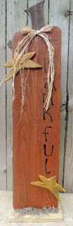 Tall wooden primitive pumpkin door greeter by My Spare Time Designs