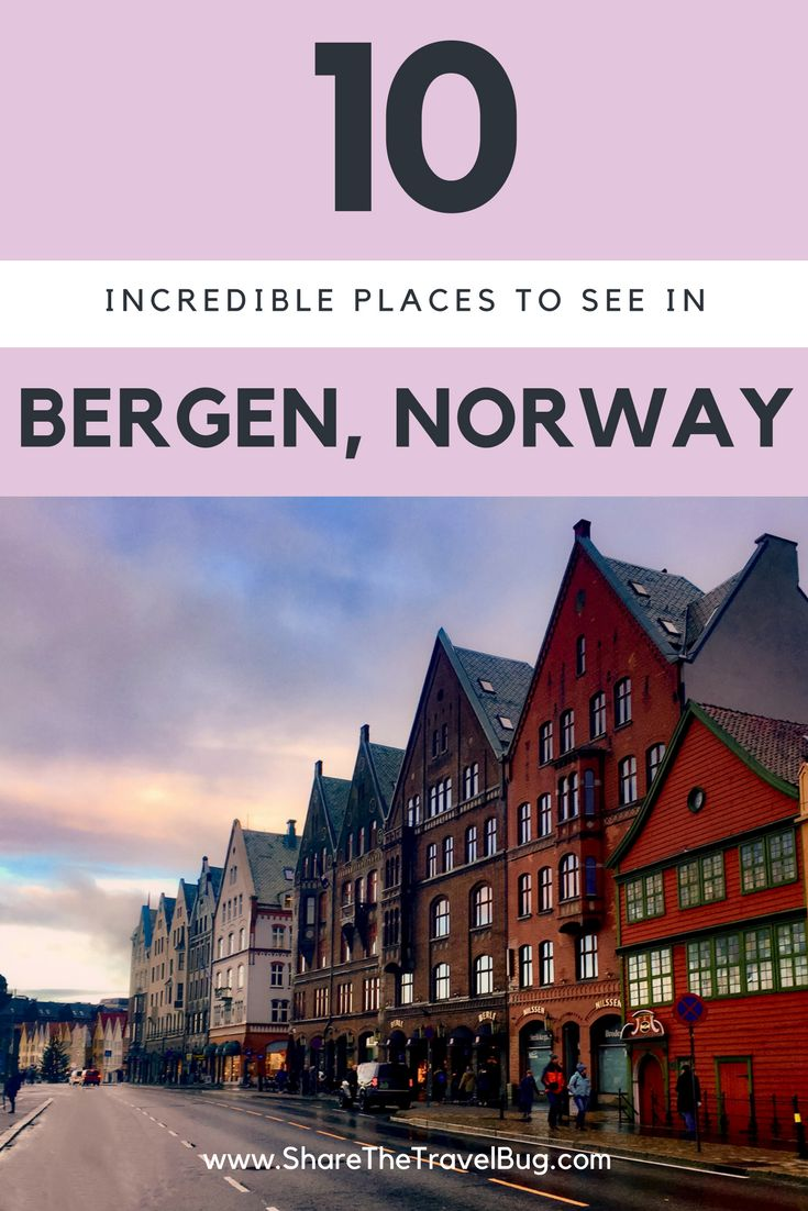 In this post, the travel bugs will highlight our favorite attractions in Bergen, Norway that will help you create fun memories. #Bergen #Norway
