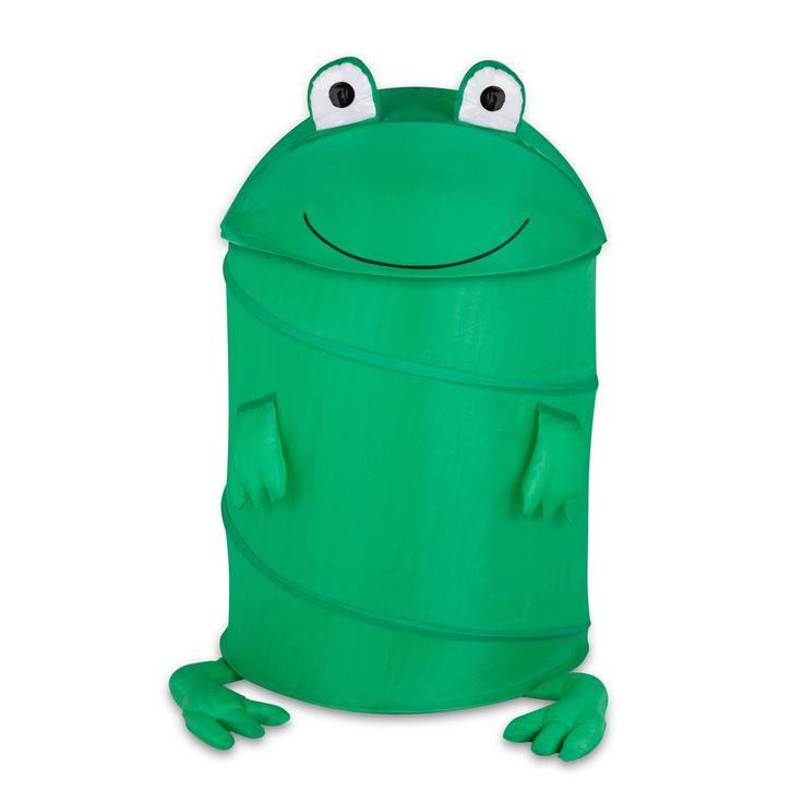 Honey Can Do Large Kids Pop-Up Hamper - Frog - HMP-02058