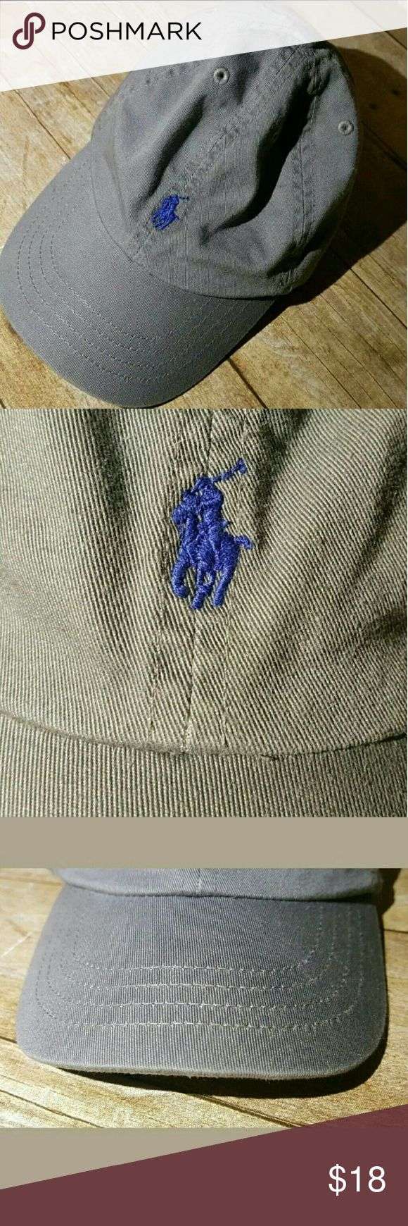 POLO Ralph Lauren Gray Adjustable Youth Hat 4-7 yr This is a super cute POLO Ralph Lauren Gray Adjustable Youth Hat 4-7 yrs. EUC. 100% Cotton. Polo by Ralph Lauren Accessories Hats