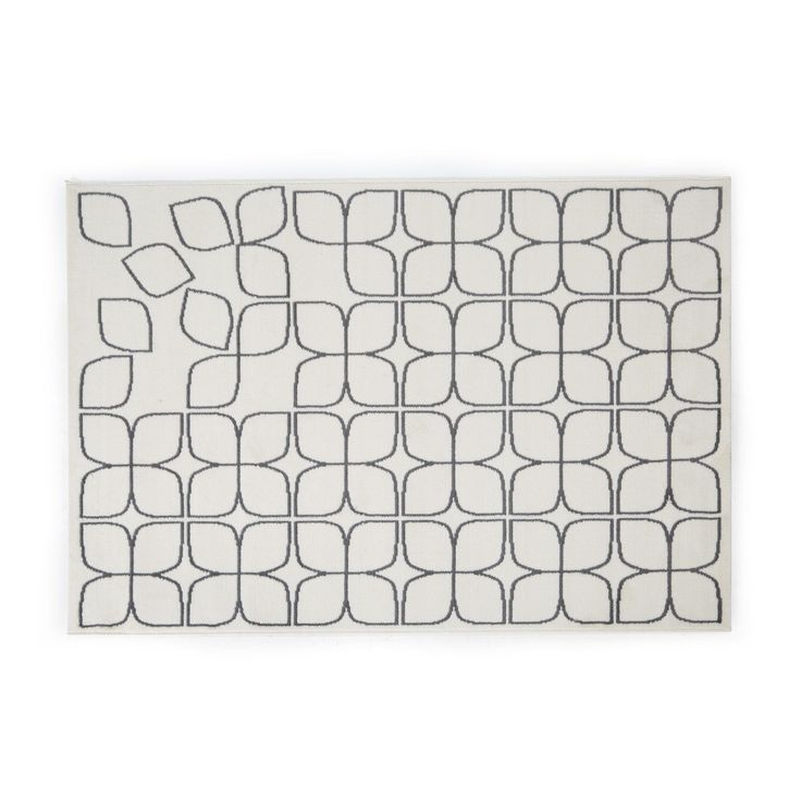 tapis 133x180cm cru et gris ecru gris papillon les tapis textiles et tapis salon et. Black Bedroom Furniture Sets. Home Design Ideas