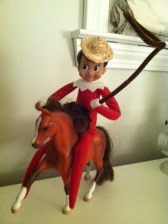 Elf on the shelf, cowboy | Elf on the Shelf Ideas | Pinterest