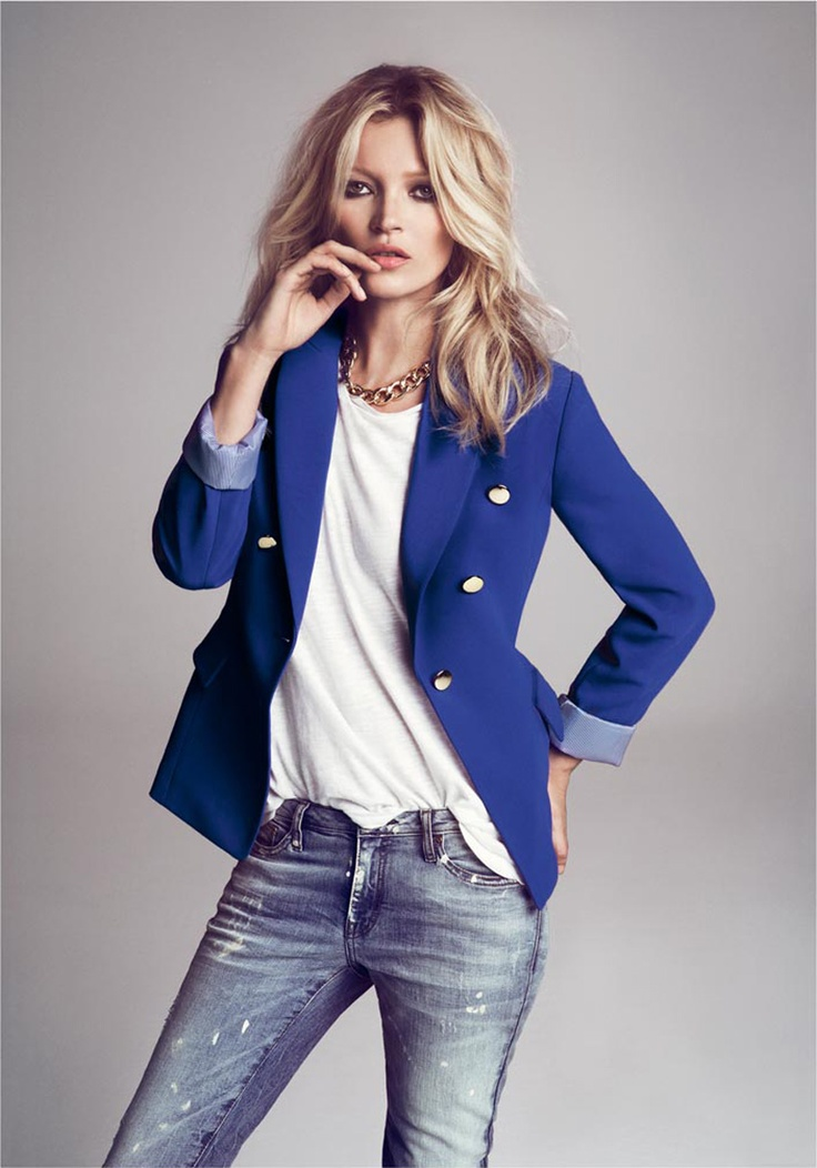 Light Pink Blazers, Fashion, Style, Blue Blazers, Blazers Jeans, Mango, Katemoss, Electric Blue, Kate Moss