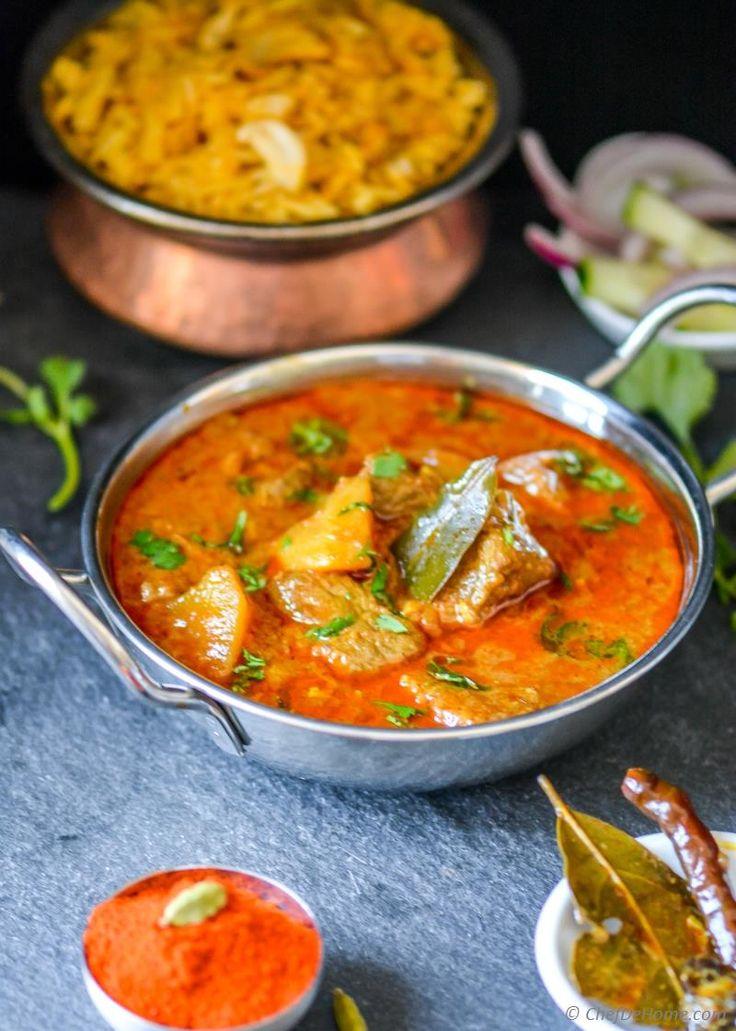 Lamb Rogan Josh - Indian Kashmiri Mutton(Lamb) Curry Recipe   ChefDeHome.com