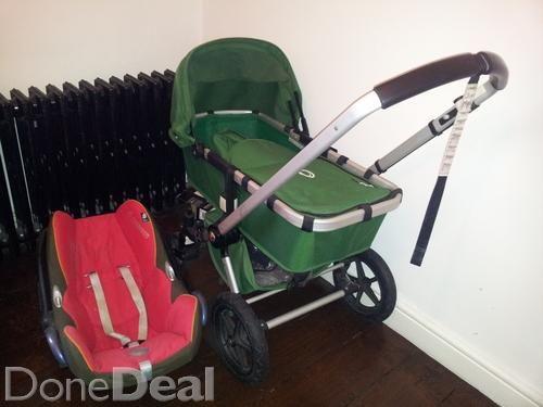 Bugaboo buggy, pram and car seatin mint