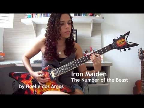 Iron Maiden - The Number of the Beast Guitar Cover (by Noelle dos Anjos) - YouTube