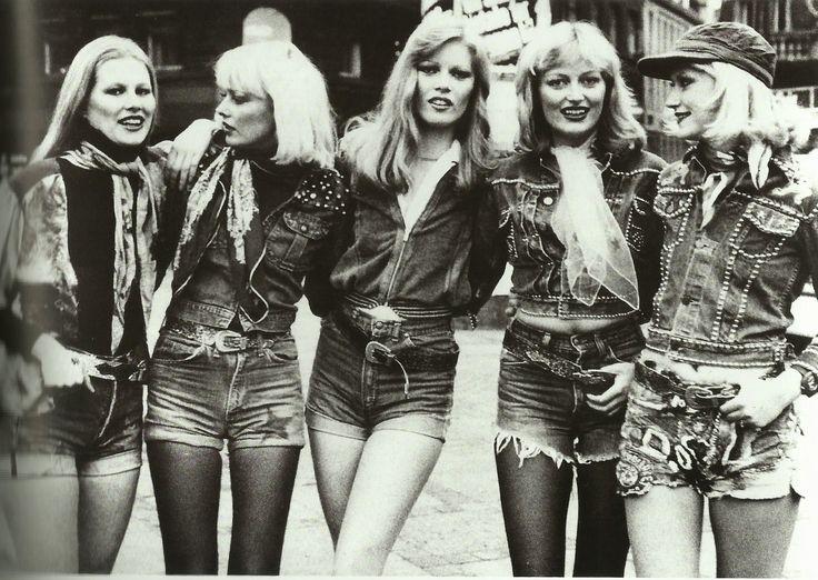 edie new york, denim ladies  london street style 1975
