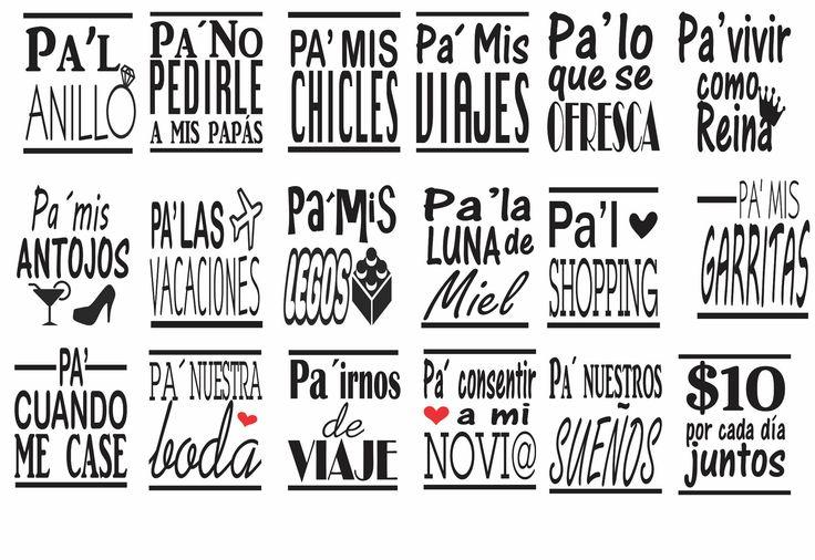 Etiquetas Estilo Alcancía, Etiqueta para Mason Jars, Diseño de vinil para recorte con Plottter. de DCImprimibles en Etsy
