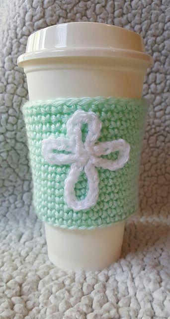Ravelry: Cross Coffee Cozy pattern by Brooke Rabideau ~ this is a FREE - CROCHET pattern