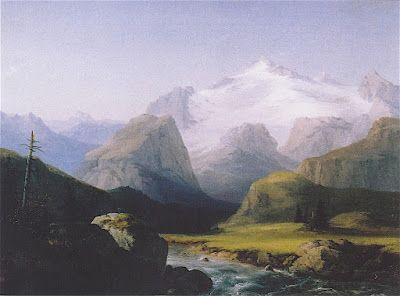 Mountain paintings: THE HOCHALMSPITZE PAINTED BY MARCUS PERNHART