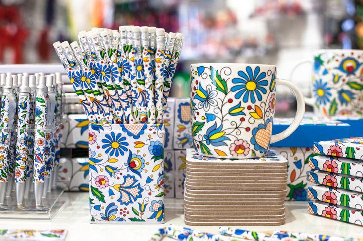 ołówki, kubek, kaszuby, folk, folklor, folkstar, na ludowo, ludowe, niebieski, design, etno, łowicz