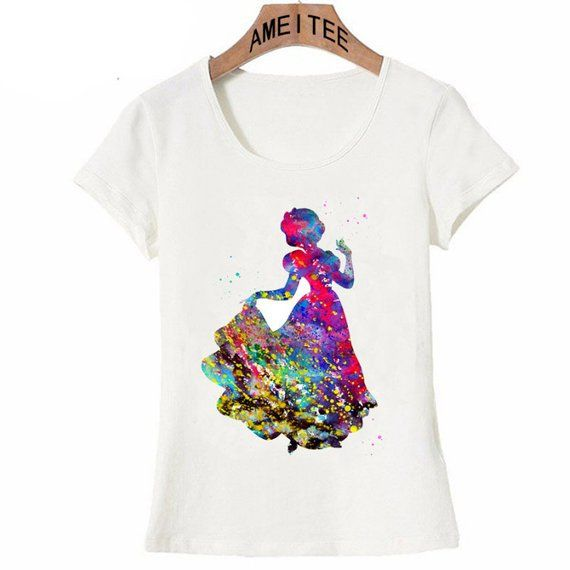Watercolor Disney Inspired Snow White T Shirt Princess Tee