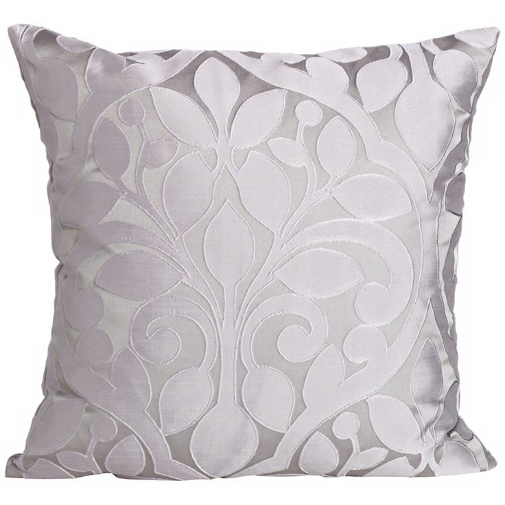 "Lillian Steel 18"" Square Down Throw Pillow - Style # Y0292"