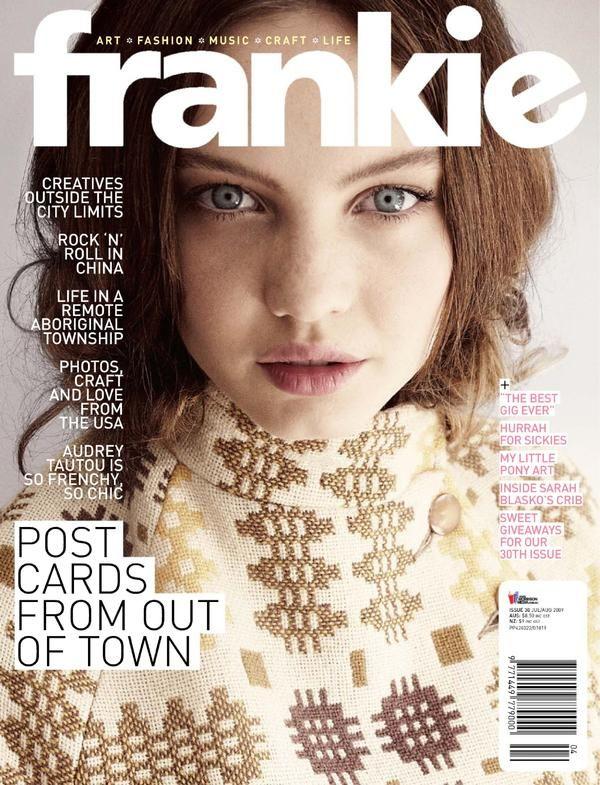 Frankie magazine cover  - July 2009