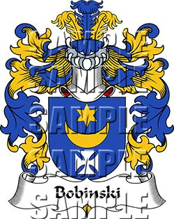 Bobinski Family Crest apparel, Bobinski Coat of Arms gifts
