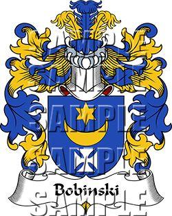 Bobinski Family Crest apparel, Bobinski Coat of Arms gifts
