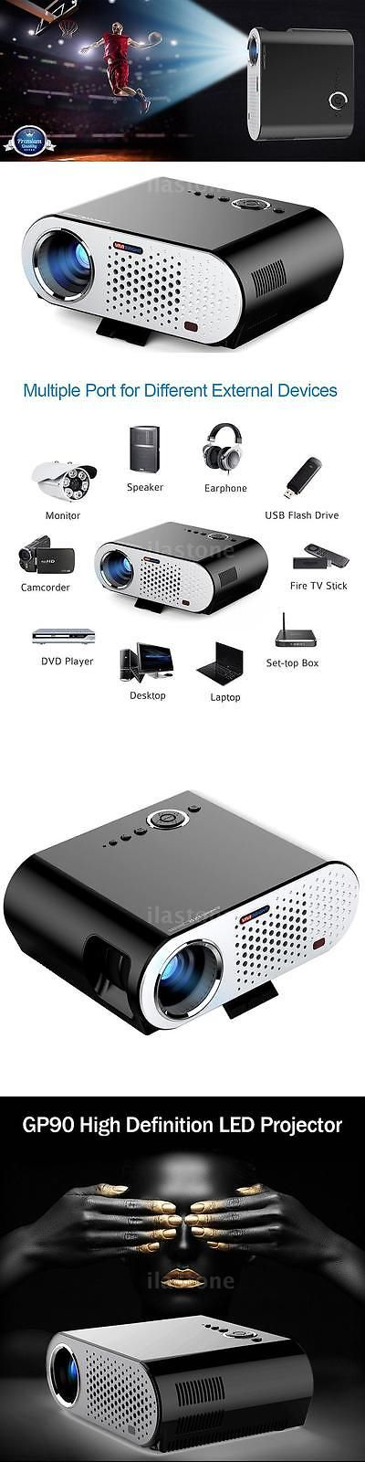 Home Theater Projectors: 280 Multimedia 3200 Lumens Hd Led Projector Home Theater Vga Av Usb 1080P R6y5 -> BUY IT NOW ONLY: $149.95 on eBay!