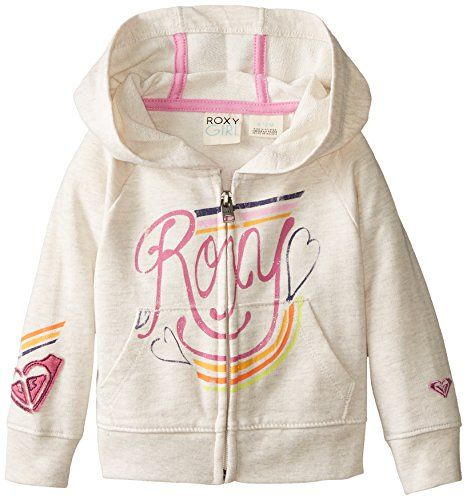 Roxy Baby-Girls Infant Coney Logo Hoodie, Metro Heather, 18 Months