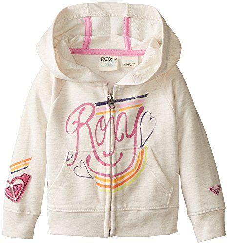 Roxy Baby-Girls Infant Coney Logo Hoodie, Metro Heather, 18 Months