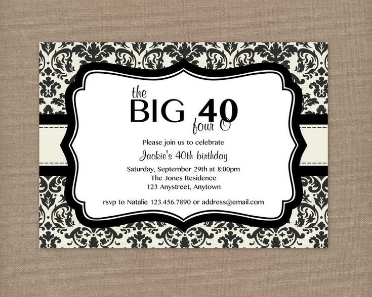 best 25+ 40th birthday invitations ideas only on pinterest | 40, Birthday invitations