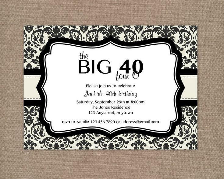 best 25+ 40th birthday invitations ideas only on pinterest | 40, Wedding invitations