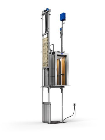 No machine room or control room: The Gen2 system's patented flat belts and compact machine take up less space. For you, that means no machine room and more rentable space. Even the controller for the Gen2 Switch elevator is compact enough to mount in the hoistway. (Photo: Otis Elevator Company)