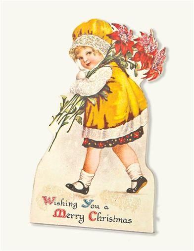 Poinsettia Pauline Little Lassie Dummy Board from Victorian Trading Co.