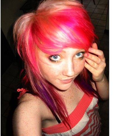 wierd hair styles colorful images cool teen hairstyle with colorful 8074