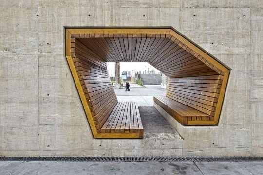 whoa awesome: Wooden Benches, Public Spaces, Urban Plans, Landscape Architecture, Backyard Design, Parks Benches, Modern Architecture, Square, Urban Landscape