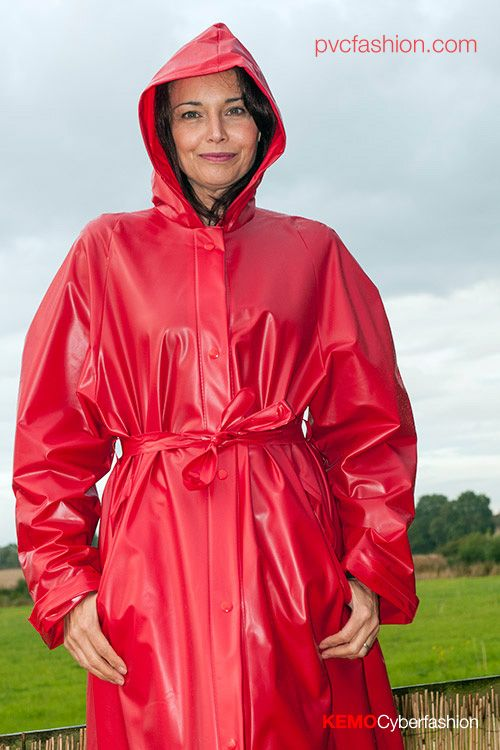 Very Smooth Red Pvc Raincoat Amp Girl Pvc Raincoats