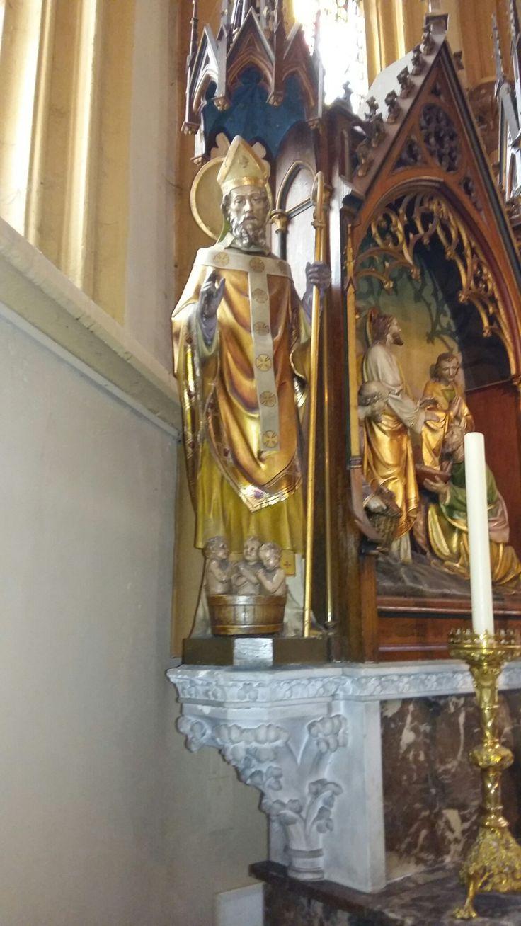 Sint Nicolaasbeeld op altaar, Valkenburg