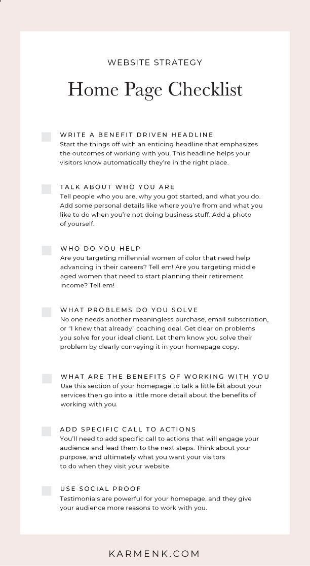 How To Write The Perfect Copy For Your Website Home Page Web Design Tips Marketing Strategy Social Media Business Website