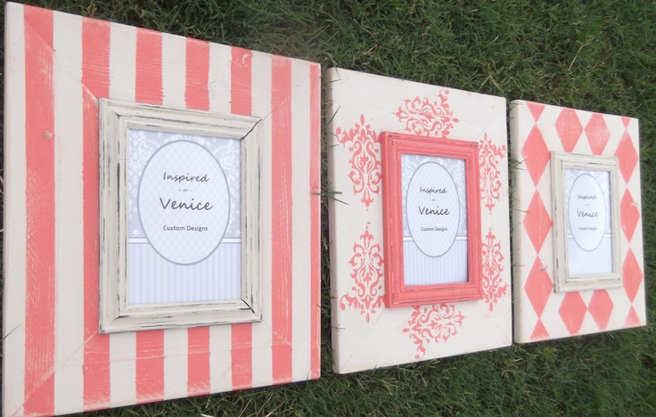 Pick Your Color Distressed Hanging Wooden Picture Frame - Hand Painted Picture Frame - Picture Frame Grouping. $90.00, via Etsy.