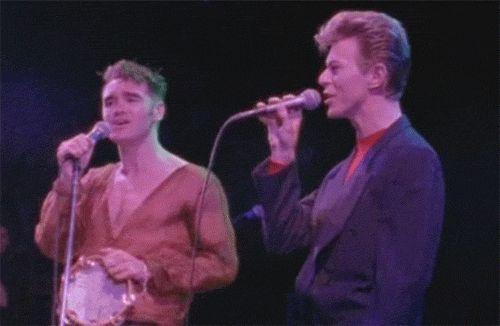 "d1ebyyourside: ""Morrissey and David Bowie """